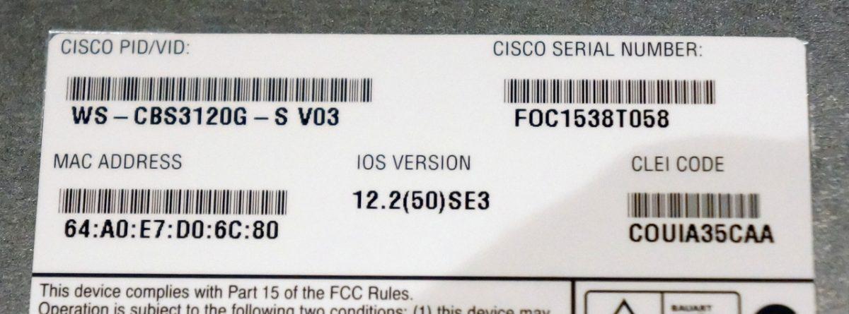 Cisco设备上的序列号到底包含了哪些信息
